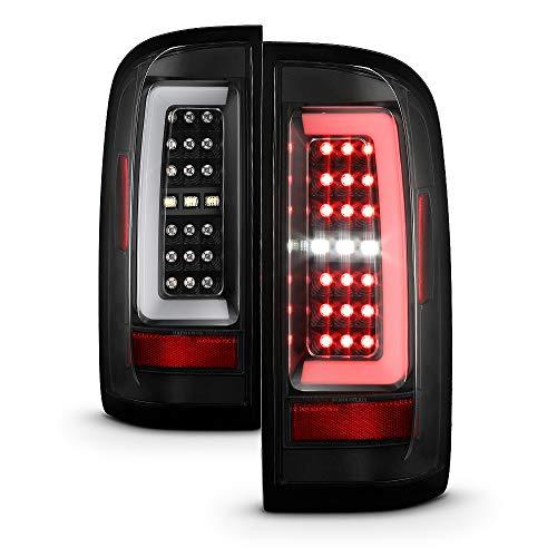 ACANII - For 2015-2019 Chevy Colorado Black Lumileds LED Tail Lights Brake Lamps w/LED Light Tube Driver & Passenger