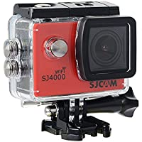 SJCAM Original SJ4000 WiFi Version Full HD 1080P 12MP Diving Bicycle Action Camera 30m Waterproof Car DVR Sports DV with Waterproof Case (RED) + 1 EXTRA BATTERY