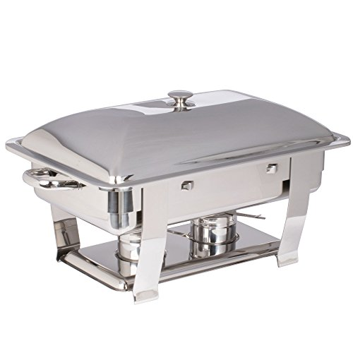 Vollrath 46518 9 Qt. Orion Lift-Off Rectangular Chafer Full Size