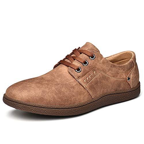 Shoes Rosso Fashion Shoes Mocassini Pelle in Casual Oxford Marrone Men Dress Slip Uomo for con Soft zqxHa6wR