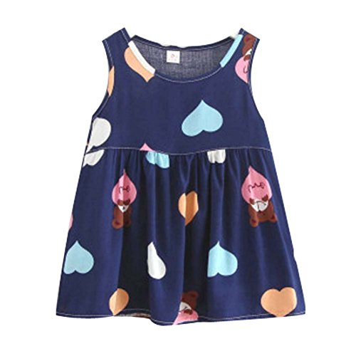 Koala Superstore [N] Kids' Pajama Home Nightdress Sleeveless Cotton Dress Vest Skirt for Girls by Koala Superstore