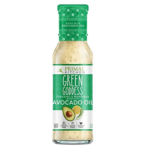 Primal Kitchen Green Goddess Dressing & Marinade made with Avocado Oil, 8 oz | Pack of 3