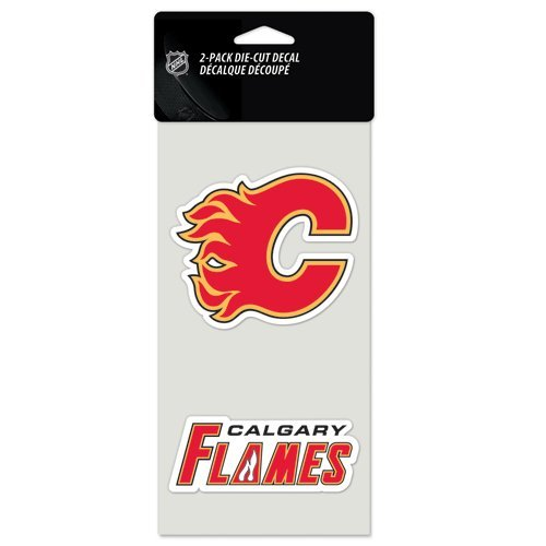 (WinCraft NHL Calgary Flames Perfect Cut Decal (Set of 2), 4