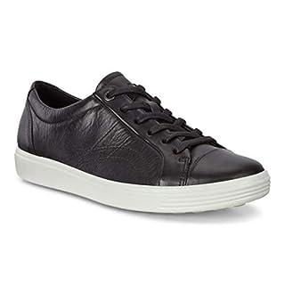 ECCO Women's Soft 7 Stitch Tie Sneaker, Black, 39 M EU (8-8.5 US)