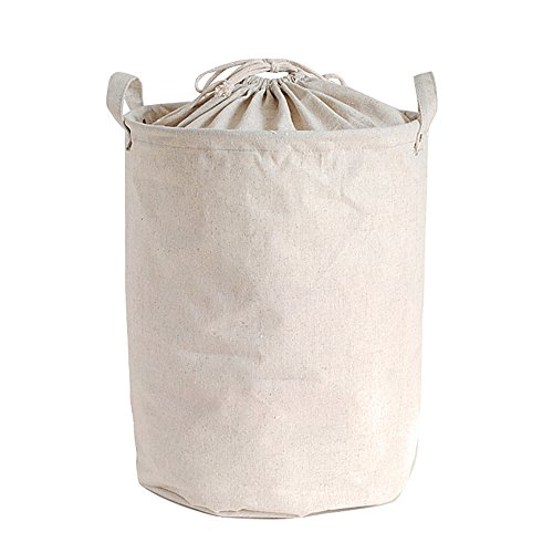 Riverbyland Closing Top Folding Laundry Hamper Cotton Linen 17x13