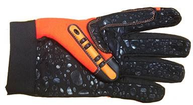 MECHANIC GLOVES ANTI-VIB BLACK/ORANGE by Elisanliving (Image #2)