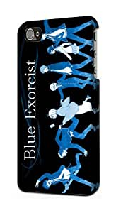 Blue Exorcist Ao No Exorcist Snap on Plastic Case Cover Compatible with Apple iPhone 4 and 4s