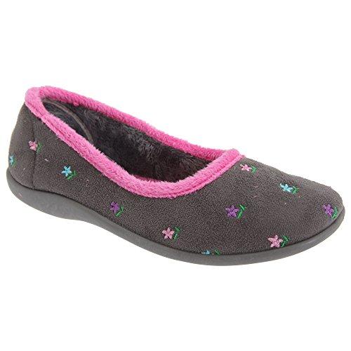 Pantofole / Ballerine Da Donna Con Ciondoli Floreali Da Uomo / Donna Grigio Angelo