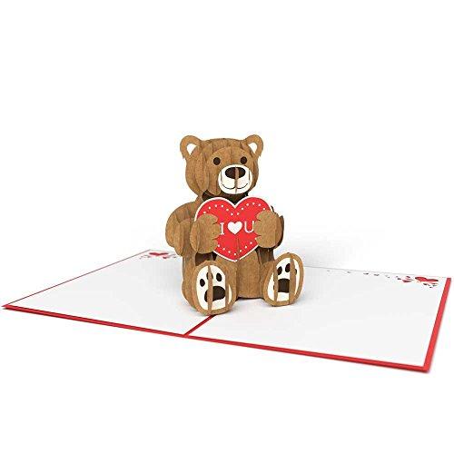 Lovepop Love Bear Pop Up 3D Valentine's Day Card