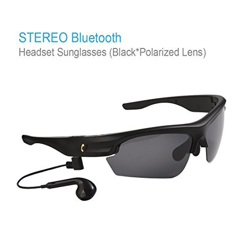 Sports Polarized Lens Bluetooth Sunglasses with Smart Touch Function Wireless Stereo Bluetooth Earphone for Outdoor Activities(Black)