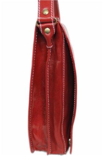 LEATHERWORLD Italy , Sac bandoulière pour femme rouge rouge mittel