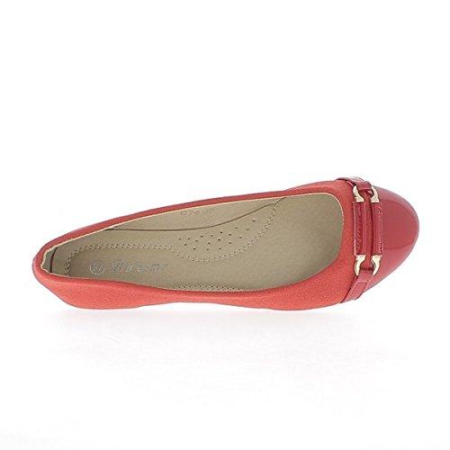 Rote Ballerina Bi materiell Jute und lackierten Ende