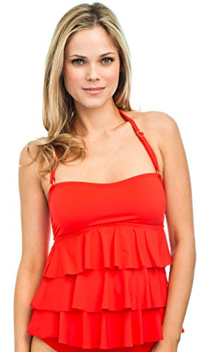 Classic Tiered Bandini by Leilani -12-L14_Red