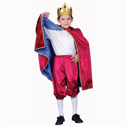 [Deluxe Royal King Dress Up Costume Set - Maroon - Toddler T4] (Toddler King Costumes)