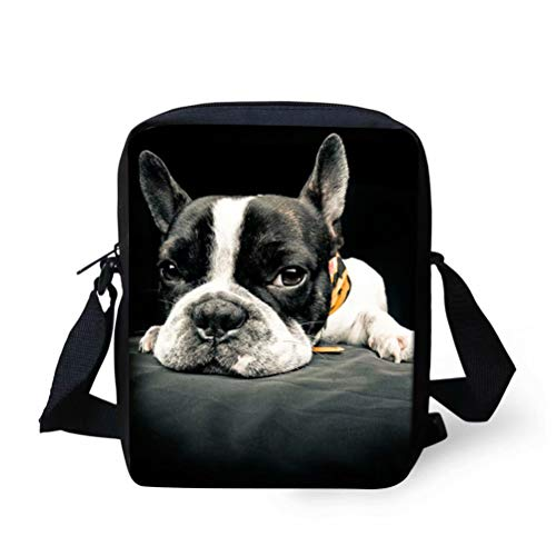 french bulldog messenger bag - 7