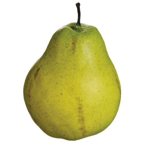 5'' Artificial Weighted Natural Touch Pear -Green (pack of 24) by SilksAreForever