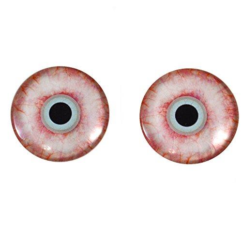 40mm Pair of Large Bloodshot Zombie Horror Glass Eyes]()