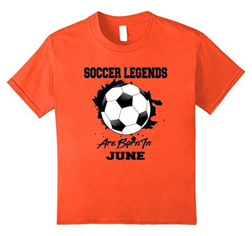 Kids Soccer Player June Birthday