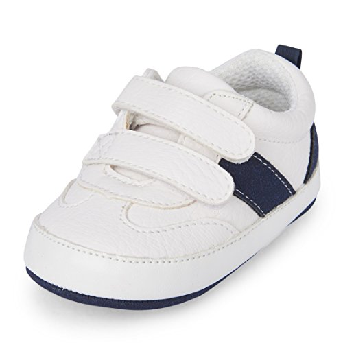 The Children's Place - Nbb Vlcr tenis Niños, unisex, Blanco, 3-6MOS Medium US Infant