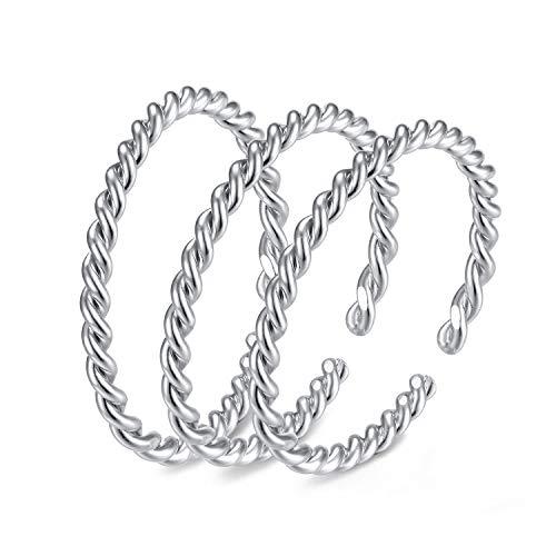 EAMTI Wrap Adjustable 925 Sterling Silver Turquoise Cubic Zirconia Decmeber Birthstone Wedding Engagement Ring … ()