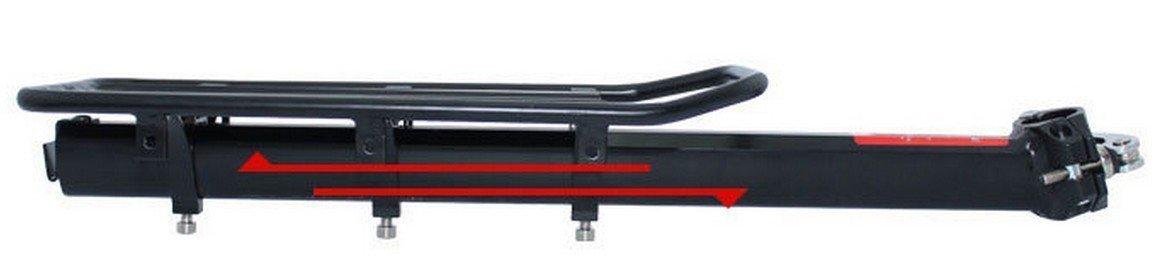COMINGFIT 110 Lbs Capacity Aluminum Alloy Bicycle Rear Rack Adjustable Pannier Bike Luggage Cargo Rack Bicycle Carrier Racks by COMINGFIT (Image #7)