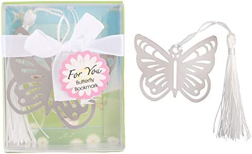 Yuokwer 12 piezas Mariposa Metal Bookmarks Baby Shower ...