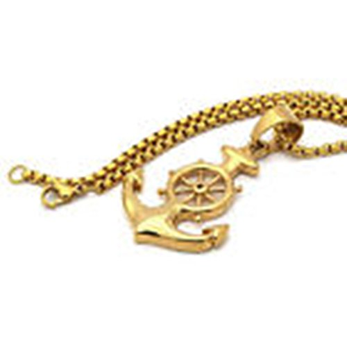 Bodybasic - Stainless Steel Gold Plated Anchor Pendant 24