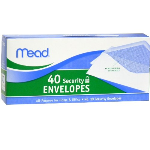 Mead Security Envelopes No. 10