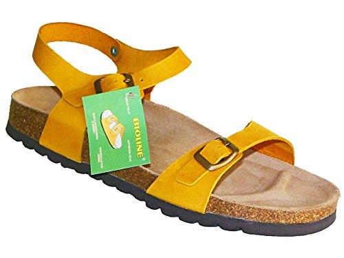 Bioline-Saty Mujer zapatos con correa Naranja