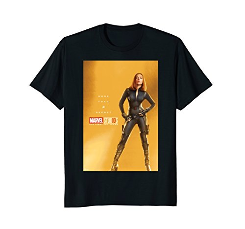 Marvel Studios 10 Years Black Widow Poster Graphic T-Shirt