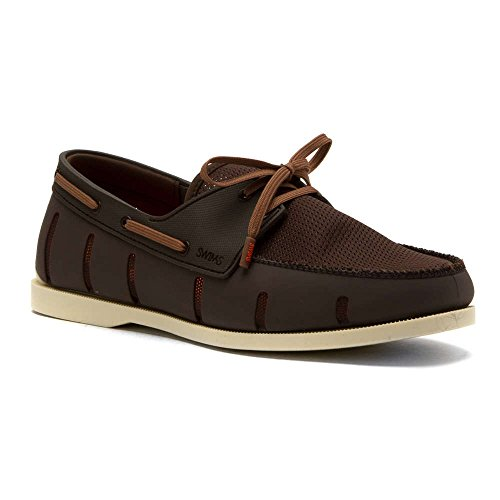 Swims Hombres Boat Loafer Crema Marrón 7 M