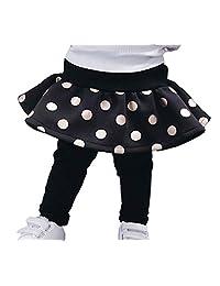 XNN Winter Thick Girls Pantskirt Culottes Leggings Pants Dress 3-8Years