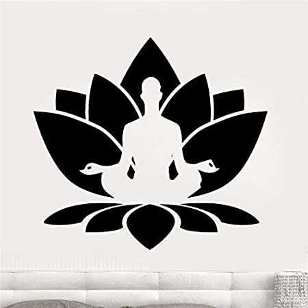 haotong11 Meditación Tatuajes de Pared Sala de Yoga Pegatinas de ...