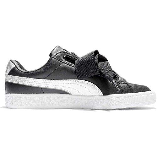 Puma Bianco Nero Basket Donna Explosive Sneaker Heart R16RrqwP