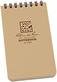 """product image for Rite in the Rain Pocket Top-Spiral Weatherproof Notebook 935T, 3"""" x 5"""", Beige color - Total 8 Notebook"""