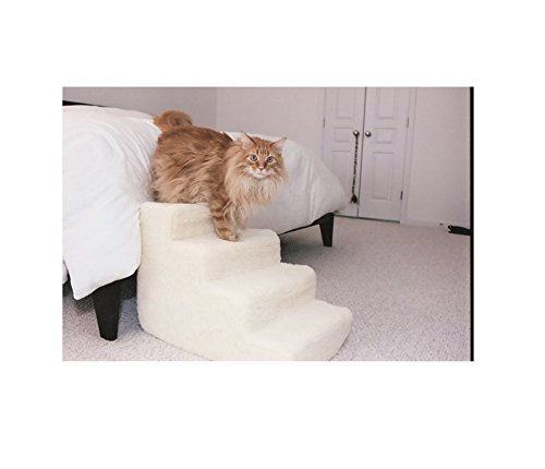 Pet Stairs Petstairz 4 Step High Density Foam Pet Step and Pet Stair with Beige Removable and Washable High Curly Pile Shearling Cover for Pets up to 50 Lbs. Review