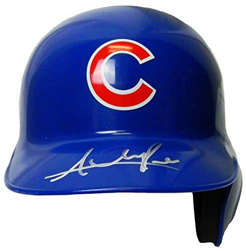 Mlb Mini Riddell Batting Helmet - Addison Russell Signed Chicago Cubs Riddell Mini Batting Helmet - Autographed MLB Helmets