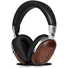 Freegoing Over Ear HeadphonesWith In-Line Powerful Bass Music Wired Wooden Headset For Smart Phone,Tablets,Desktop