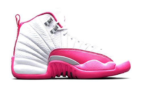 hot sales 62a50 86855 Nike Jordan 12 Retro Toddler TD White   Metallic Silver   Vivid Pink  819666-109 - Buy Online in Oman.   Shoes Products in Oman - See Prices, ...