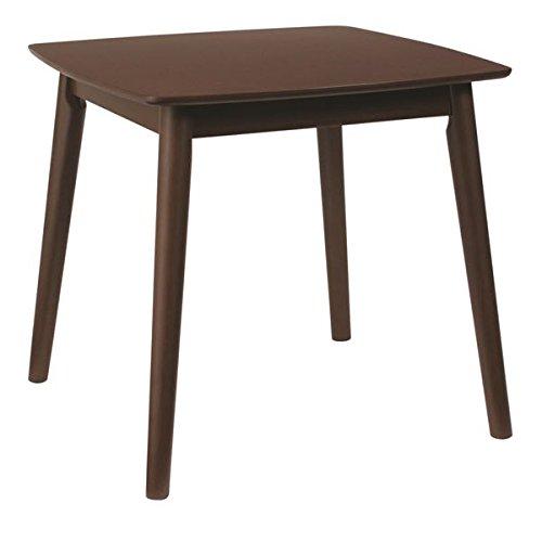 ダイニングテーブル リビングテーブル 【正方形】 木製 アッシュ材突板 幅75cm 木目調 北欧風 『シープ』 ブラウン B01D08W5G0 テーブル 幅75cm|ブラウン ブラウン テーブル 幅75cm