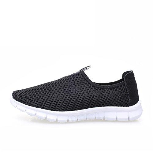 Zapatos de las mujeres coreanas/Red de extremo de hilo de malla transpirable ligero hueco zapatos/Low-top zapatillas/ pie calzado de fondo plano par red M