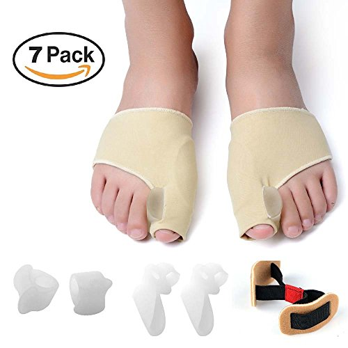 ZNYsmart Bunion Corrector and Bunion Relief Toe Separator Spacer Straightener Splint Pad Protector Sleeves Kit by ZNYsmart