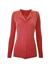 2LUV Women's Long Sleeve V-Neck Button Up Cardigan