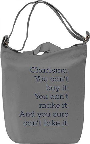 Charisma, can't buy it. Borsa Giornaliera Canvas Canvas Day Bag| 100% Premium Cotton Canvas| DTG Printing|