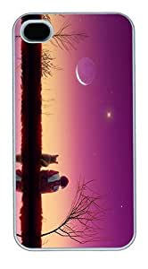IMARTCASE iPhone 4S Case, Best Friends Polycarbonate Back Case for Apple iPhone 4S/5 White