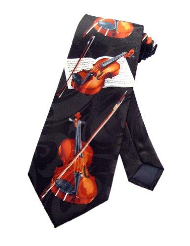 Steven Harris Violin Viola Music Instrument Necktie - Black - One Size Neck Tie