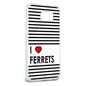 I Love Heart Ferrets Snap On Hard Protective Case for Samsung Galaxy S6