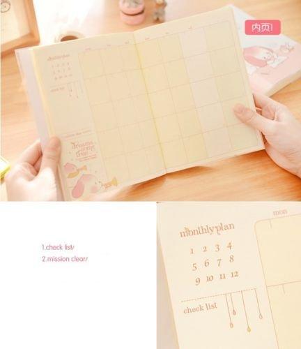 Shalleen 1pc Planner Agenda Scheduler Study Diary Pocket Journal Notebook