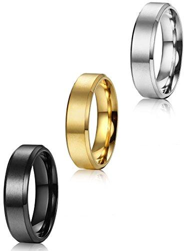 ORAZIO Stainless Steel Wedding Engagement