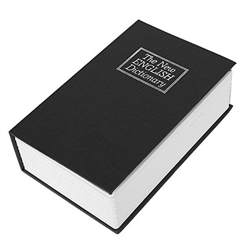 BQLZR Black English Dictionary Key Hidden Book Cash Money Jewelry Safe Box